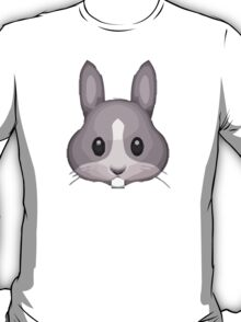 Rabbit Face Apple / WhatsApp Emoji T-Shirt