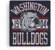 Washington - Bulldogs Canvas Print
