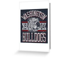 Washington - Bulldogs Greeting Card