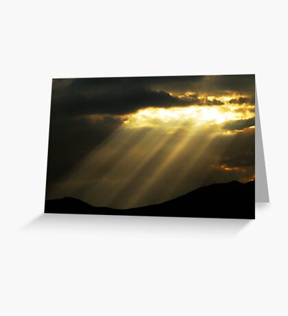 Sunburst - Saratoga Springs, Utah Greeting Card