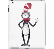 Cat in the Hat Watercolor iPad Case/Skin