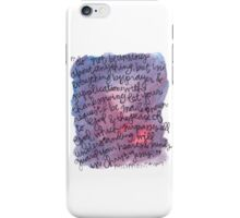 Philippians 4:6-7 Watercolor Print iPhone Case/Skin