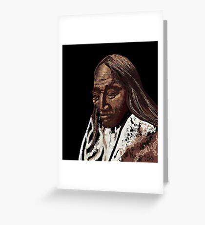 Two Strike, Sioux Greeting Card
