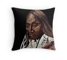 Two Strike, Sioux Throw Pillow