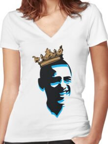 OBAMA CROWN Women's Fitted V-Neck T-Shirt