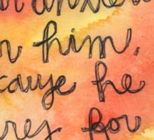 1 Peter 5:7 Watercolor Print Sticker