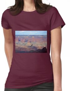 Soaring Over the Grand Canyon Womens Fitted T-Shirt