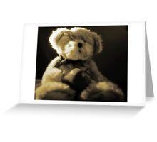 Teddy Bear in Sepia Greeting Card