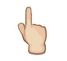 White Up Pointing Backhand Index Apple / WhatsApp Emoji by emoji