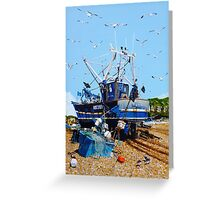 Fresh Fish and Seagulls Greeting Card