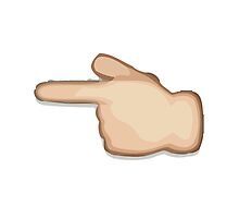 White Left Pointing Backhand Index Apple / WhatsApp Emoji by emoji