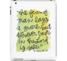 Proverbs 29:25 iPad Case/Skin