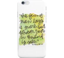 Proverbs 29:25 iPhone Case/Skin