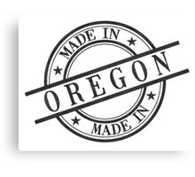 Made In Oregon Stamp Style Logo Symbol Black Canvas Print