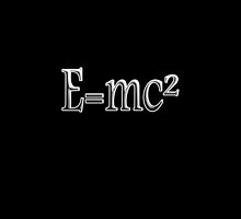 Albert Einstein, E=MC2, Mass x Energy, Squared, On Black, Mass, Energy Equivalence, Equation, by TOM HILL - Designer
