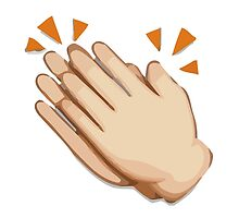 Clapping Hands Sign Apple / WhatsApp Emoji by emoji