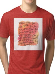 Isaiah 41:10 Watercolor Print Tri-blend T-Shirt