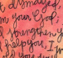 Isaiah 41:10 Watercolor Print Sticker