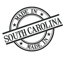 Made In South Carolina Stamp Style Logo Black Photographic Print