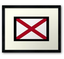 Alabama Flag, Flag of Alabama, on BLACK, State flags, Southern states, America, USA, American, Americana Framed Print