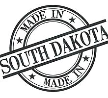 Made In South Dakota Stamp Style Logo Symbol Black by surgedesigns