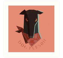 dog person Art Print