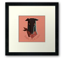 dog person Framed Print
