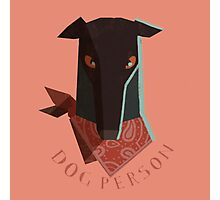 dog person Photographic Print