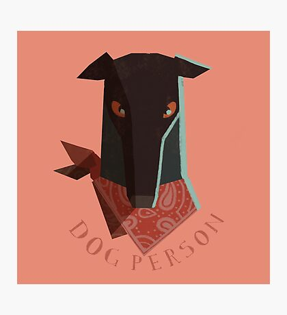 dog person Photographic Print