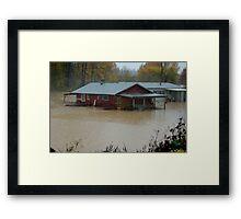WASHINGTON STATE FLOODING 2 Framed Print