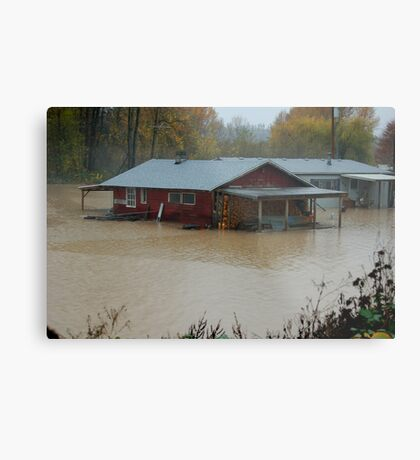 WASHINGTON STATE FLOODING 2 Metal Print