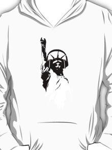 Lady Liberty with DJ Headphone T-Shirt