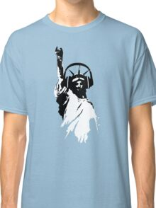 Lady Liberty with DJ Headphone Classic T-Shirt