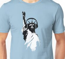 Lady Liberty with DJ Headphone Unisex T-Shirt