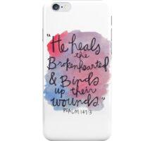 Psalm 143:7 Watercolor Print iPhone Case/Skin