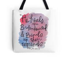 Psalm 143:7 Watercolor Print Tote Bag