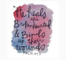 Psalm 143:7 Watercolor Print Kids Clothes