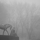 Kozak and horse by Bob Burnham
