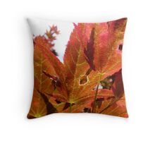 flame red Throw Pillow