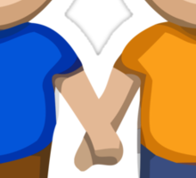 Two Men Holding Hands Apple / WhatsApp Emoji Sticker