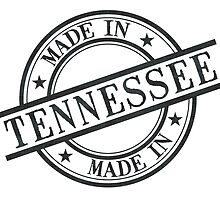 Made In Tennessee Stamp Style Logo Symbol Black by surgedesigns