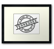 Made In Tennessee Stamp Style Logo Symbol Black Framed Print