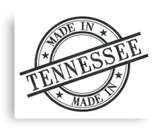 Made In Tennessee Stamp Style Logo Symbol Black Canvas Print