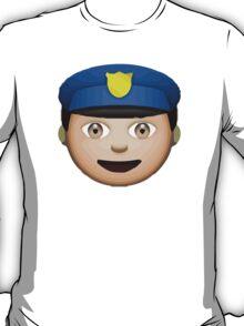 Police Officer Apple / WhatsApp Emoji T-Shirt