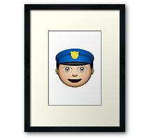Police Officer Apple / WhatsApp Emoji Framed Print