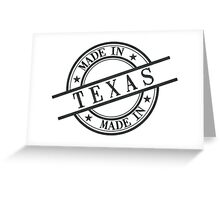 Made In Texas Stamp Style Logo Symbol Black Greeting Card