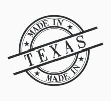 Made In Texas Stamp Style Logo Symbol Black Kids Clothes