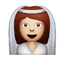 Bride With Veil Apple / WhatsApp Emoji by emoji