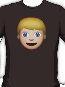 Person With Blond Hair Apple / WhatsApp Emoji T-Shirt