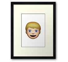 Person With Blond Hair Apple / WhatsApp Emoji Framed Print